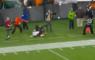 NFL Denver Broncos Cleveland Browns Justin SImmons Tackle Camera Man Lens